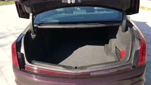 抢鲜看:全新凯迪拉克CT6铂金版后备箱设计,无拓展功能,纵向距离可观