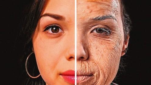 爱化妆与爱素颜的女生,20年后谁的皮肤更好?看完你别不信!