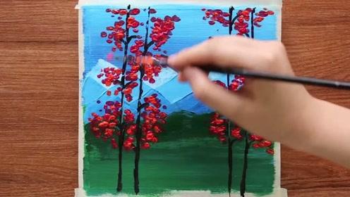 刷几刷就画好秋天的森林,眼睛:我会了,手:老子不会!
