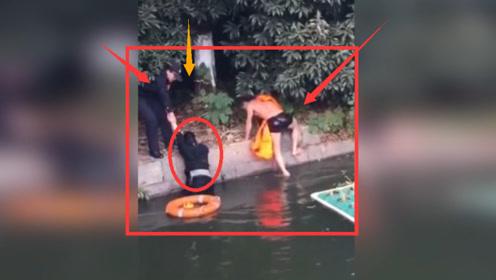 危险!绍兴一年轻女子跳河轻生 被警方迅速救起