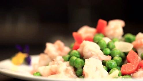 产后饮食第3周热补期:豌豆虾球,补充膳食纤维