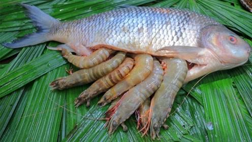 农村小伙捉到一条20斤大鱼,开膛破肚后,才发现事有蹊跷!