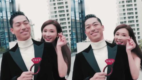 Akira婚前受访用中文感谢难掩喜悦,志玲姐姐藏身后卖萌比心放电眼