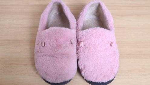 清洗棉拖鞋这么简单,不用水洗不用晾晒,再脏的5分钟就干净