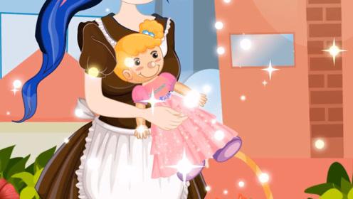 穷女孩在垃圾桶中捡到一个娃娃,带回家一通打扮,竟比新的还好看