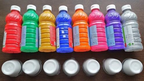 各种彩色丙烯染料,混合白胶,猜猜无硼砂史莱姆会变什么颜色