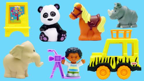 小小探索家的动物园场景玩具