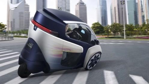 丰田i-road倒三轮电动车,灵活好开的代步小车,仅售1万元,你喜欢吗