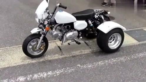 机车摩托:专为雪天而生,迷你型三轮摩托车,省油又轻巧
