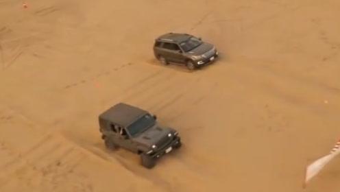 国产长安汽车沙漠挑战牧马人,一脚油门踩下去,胜负结果显而易见