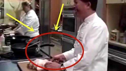 美国厨师PK中国大厨比刀工,简直就是被吊打:让你15秒!