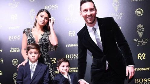 现场嗨起!梅西第6次夺金球奖 获奖瞬间4岁儿子表情亮了
