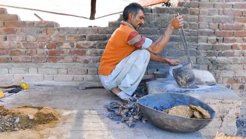 印度人用牛粪做燃料,熔化铝水铸造供油凸轮,不愧是开挂的民族