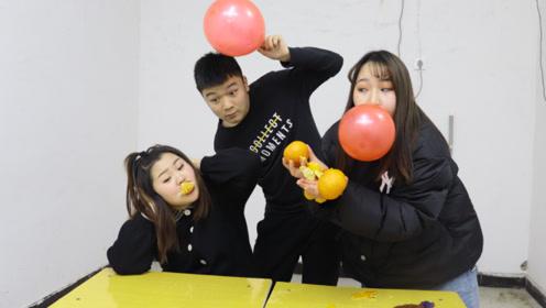 不碰气球让气球爆炸,学霸做不到,手工最差的学渣分分钟搞定
