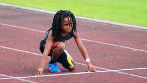 跑步速度最快的孩子,年仅7岁已超越飞人,有信心击败博尔特!