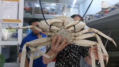 """风靡越南的""""白金螃蟹"""",一只就卖到800元,蒸熟后知道为啥贵了"""