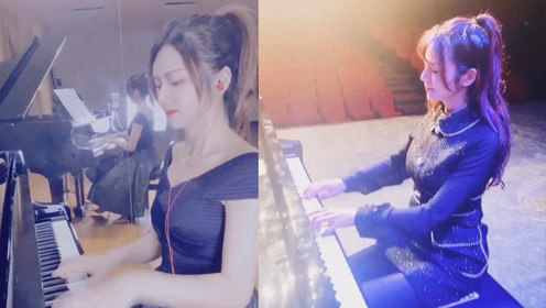 小姐姐钢琴弹奏《Star Sky》,气势磅礴,瞬间回忆起冰封王座!