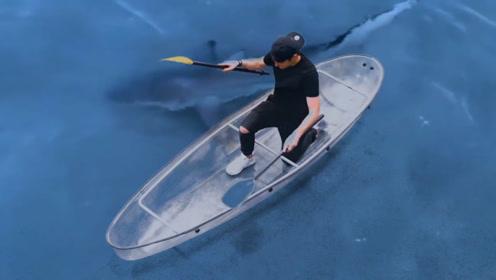 奇葩老外用胶带造船,用弓箭测试?网友:这是造了个金刚船吧