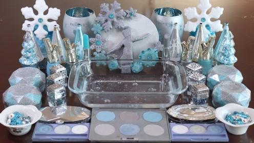 创意玩玩:水蓝色化妆泥 史莱姆放松玩玩