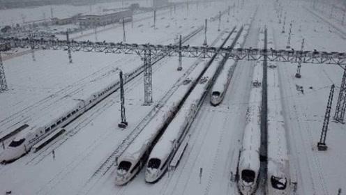 当高铁遇到暴雪时,是如何运行的呢?看完可以放心回家了!