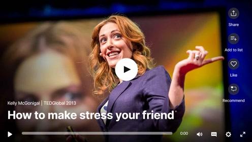 双语字幕TED演讲:生活太累,如何跟压力做朋友?
