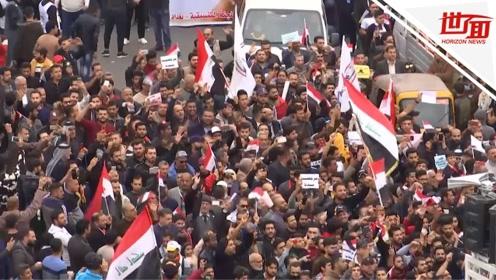伊拉克首都示威活动遭枪击 一伙枪手闯进人群扫射致16死