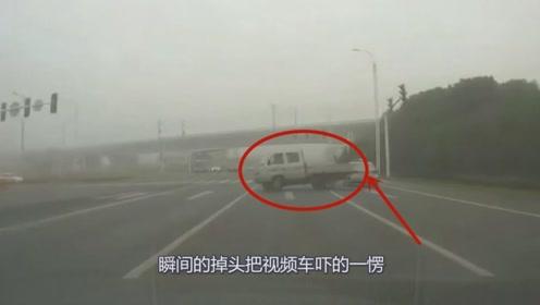 眼看着要追尾司机放出大招,这技术让人佩服!