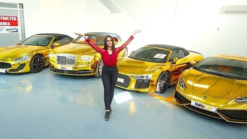 迪拜人那么有钱,那皇室的王子呢?看看他的车库就明白了