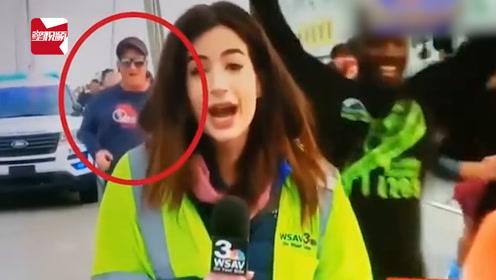 美国女记者直播长跑比赛,遭参赛男子拍屁股骚扰:被禁赛