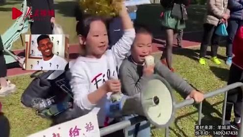 爸爸参加马拉松,萌娃场外激情喊加油,花式口号令人笑喷