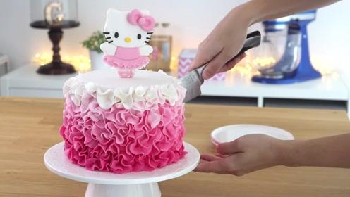 用二哈啃过的手,也能做超美的hello kitty蛋糕?好想趴着舔一口