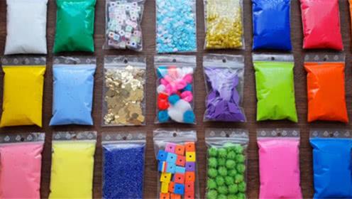DIY史莱姆教程,超多盲袋彩泥、水晶泥、毛毛球、亮片