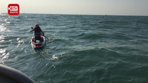 他们用划桨板横渡琼州海峡 6人平均年纪55岁