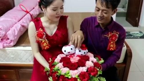 云南20岁漂亮姑娘,嫁35岁丑男人,网友:有钱就是好啊