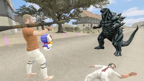 男子偶遇一怪兽,在猫咪的帮助下,用火箭炮给它轰成了烤鸡!