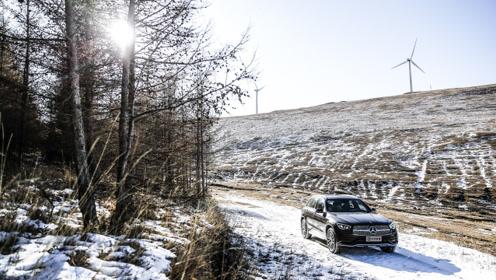将新一代长轴距GLC开进荒野,在冰天雪地中野餐