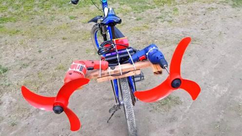 """印度牛人又""""开挂""""了,给自行车安上螺旋桨,难道真能上天?"""