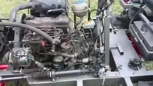 玩过迷你小型拖拉机!太可爱了!