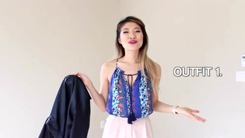 时尚女生穿搭技巧 吊带长裙与小夹克的搭配显高雅气质