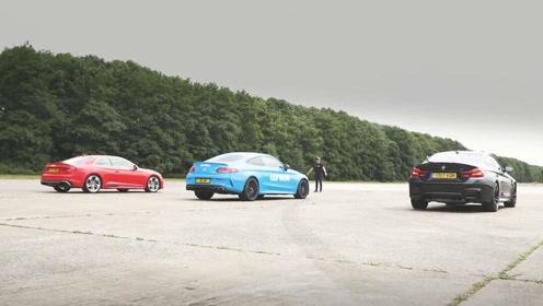 谁才是直线王?奥迪RS5宝马M4奔驰C63S AMG加速大战