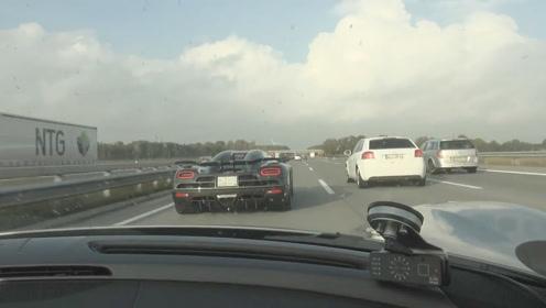 保时捷918 Spyder开上德国不限高速后,科尼赛格也得吃灰了