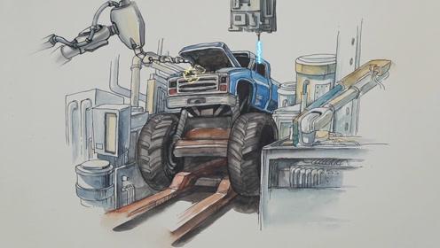 车轮近1吨重,却能轻松飞跃8米高,这样的大脚车你一定没见过!