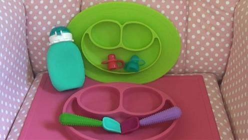 宝宝经常打翻饭碗浪费食物?你需要一个这样的宝宝餐盘!