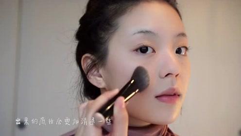 油画质感自然妆容教程  变身气质满分小仙女