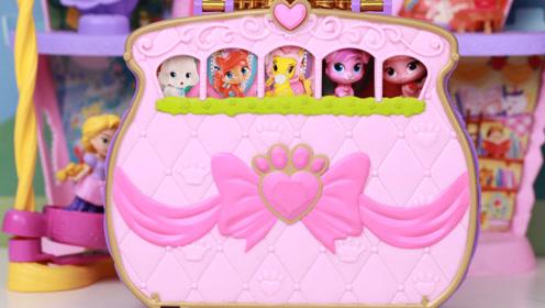 水晶宫宠物传奇粉红宠物包玩具 迪士尼可爱小宠物养成游戏试玩