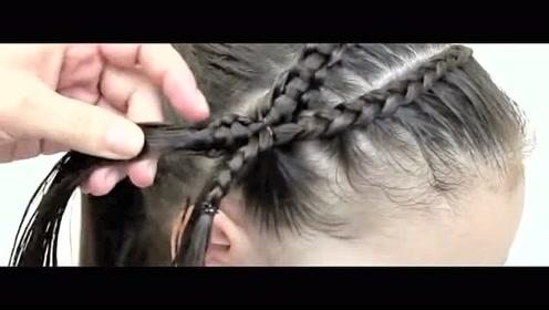 唯美花朵元素儿童半扎发发型教程,成品美美的,你学会了吗