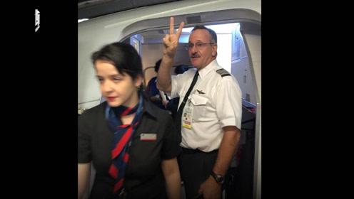 中国女留学生被美国航空赶下飞机 机长比胜利手势
