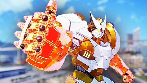 屌德斯&小熙 巨型机器人乱斗 巨大渔夫机器人上演我钓我自己