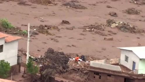 巴西矿场水坝崩塌淹没村庄 近200人失踪
