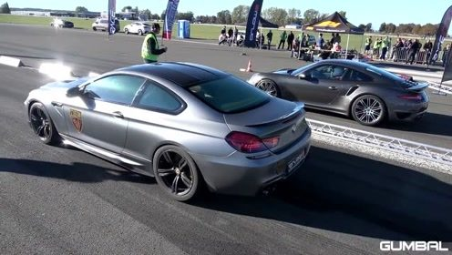 宝马M6 vs 兰博基尼Aventador LP700,赛道上分高低
